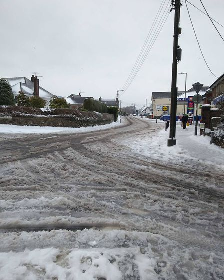 Icy roads out there. Picture: Lisa Bertin