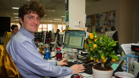 Stephen Sumner at his desk. Ref shs 09 18TI 8500. Picture: Terry Ife