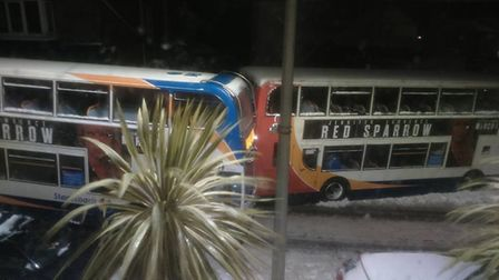The crashed buses.