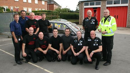 Driving lessons for anti-social drivers at Honiton fire station, tuition on safe driving by the fire