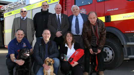 Honiton Fire Station have received pet oxygen masks from Smokey Paws, funded by the Masonic Lodge. R
