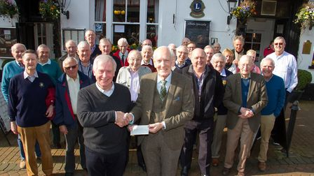 Sidmouth Rotary Club of Sidmouth present a cheque to Friends of Sidholme. Ref shs 08-18TI 8112. Pict