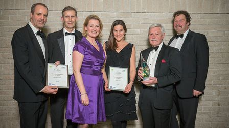 Members of the South West protected landscape teams with their outstanding contribution awards. L-R