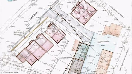 The proposed outline plans for the homes at Burnt Oak, Sidbury.