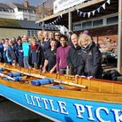 The launch of Sidmouth Gig Club's new boat, Little Picket