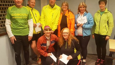 The Sidmouth Running Club beginners course with their certificates.