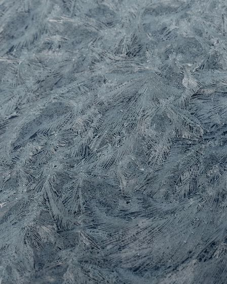 Icy patterns found on the car screen. Picture: Lycia Moore