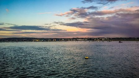 Was on a boat party when I spotted this beautiful sunset overlooking Exmouth. Picture: Nick Evans