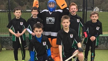 The Sidmouth and Ottery Hockey Club Under-12 boys who took part in a tournament at Okehampton