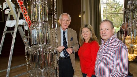 Rebuilding the chandelier at Sidholme music room. Ref shs 09 18TI 8392. Picture: Terry Ife