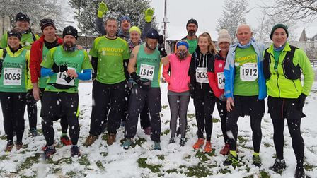 Sidmouth Running Club members at the 2018 Grizzly meeting