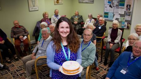 The Memory Cafe celebrate the first year of the Admiral Nurse Heidi Crook. Ref shs 10 18TI 9013. Pic