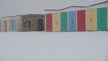 Storm Emma hits Exmouth and the scene is all white. Picture: Anna Childs