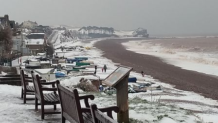 Love photography, but you don't get to see snow on the beach very often. Picture: Ian Humphries
