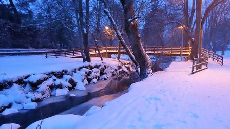 A lovely walk in the snow. Picture: Kim Rowden