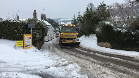 Gritting in Sidbury. Picture: Gavin Cook