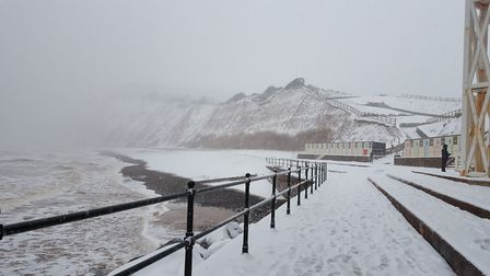 Snow in sidmouth. Picture: Lisa Warner