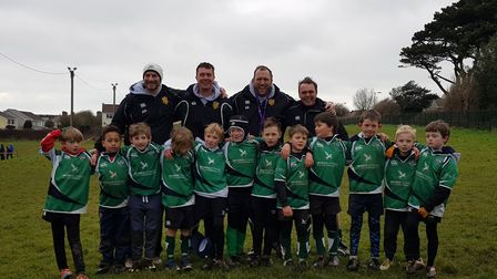 Sidmouth RFC Under-8s who took part in the junior section 2018 tour to Cornwall under the theme of '