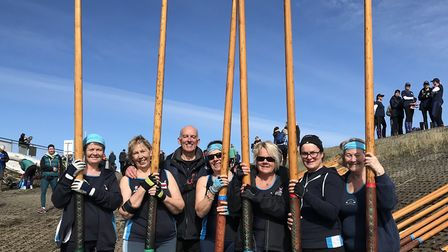 Sidmouth Gig Club supervets at the Appledore Regatta. (Left to right) Heather Bewick,Amanda Bleazard