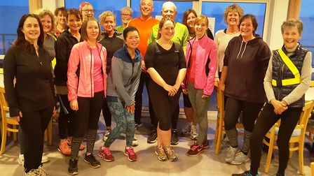 One of the running groups at Sidmouth Running Club