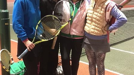 The Sidmouth ladies A team of Kate Truman, Vici Topping, Jackie Ensall and captain Marlene Maynard,