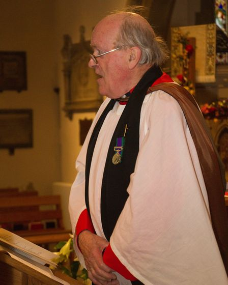 The Reverend Robin Laird at the Commemoration and Thanksgiving to mark the 100th Anniversary of the