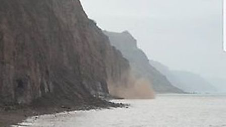 The latest cliff fall, which happened on Monday (April 10, 2018) - Picture by Shane Lomas