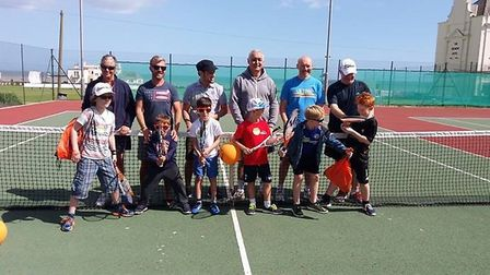 Tennis players who enjoyed the 2017 Quorn family tennis.