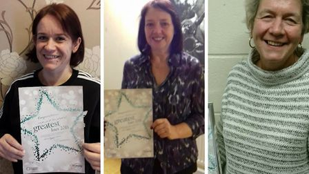 Sidmouth Slimming World has named its greatest losers. Marissa Unsworth, Lynn Cornish and Brigitte P