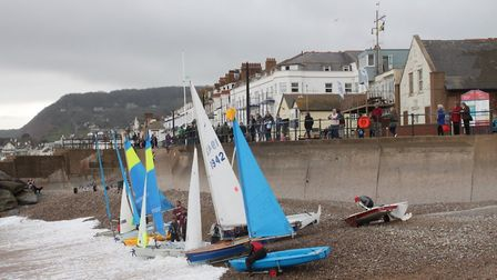 Sidmouth Sailing Club members taking to the sea for some early season racing