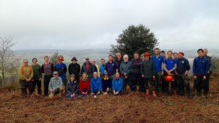 Volunteers from East Devon District Council, Devon County Council and the RSPB helped to tidy up the