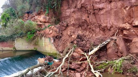 River Sid cliff fall at the Ham.