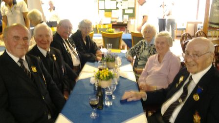 Sidmouth Bowls Club President's Day and some of the 'golden oldies' who took part.
