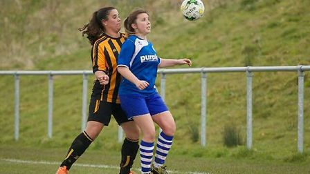 Otterettes action from the 5-0 win at Axminster in a Devon Women's League meeting