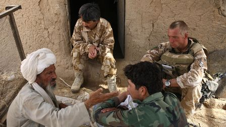 BAND E TIMOR, AFGHANISTAN - AUGUST 3: British Army soldier from the 3rd Battalion The Parachute Regi