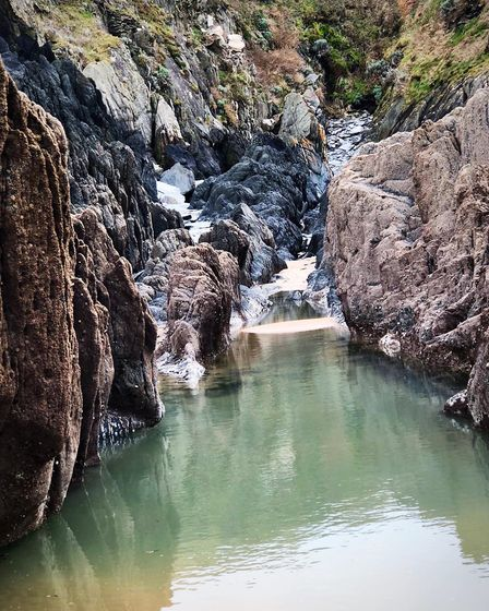 Barricane beach / Devon /Woolacombe Close ups in and around the cove after the high tide. Picture: