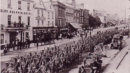 Canadian soldiers in Honiton.