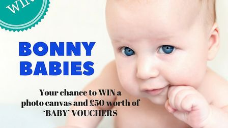 Enter our Bonny Babies competition for a chance to win £50 worth of 'baby' vouchers and a photo canv