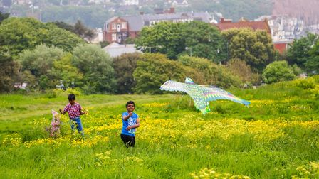 Go fly a kite event on Peak Hill. Ref shs 21 18TI 3994. Picture: Terry Ife