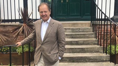 MP Sir Hugo Swire outside Kennaway House before the meeting.