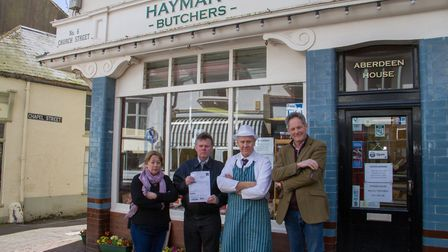 Local business owners Sharon Hobson,Steve Clarke,Stewart Hayman and Steven Kendall-Torry. Ref shs 13