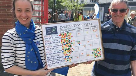 Devon for Europe held a street stall in Sidmouth on Saturday. Picture: contributed