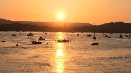 A beautiful evening enticed us down to the Estuary. Picture: Sue Babb