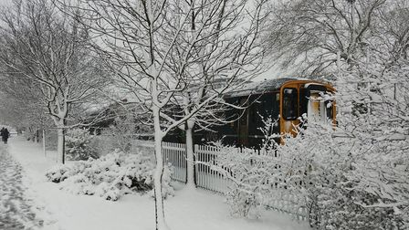 Had just dropped the wife off at the station and took this picture as the Train pulled off. Picture: