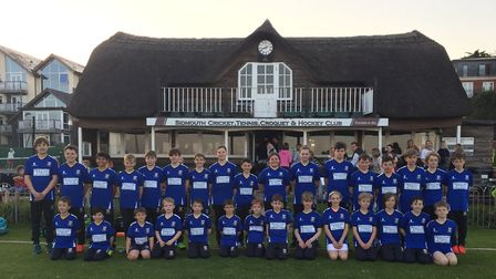 Some of the Sidmouth CC colts wearing the clubs T20 kit that all colts teams will wear this season.