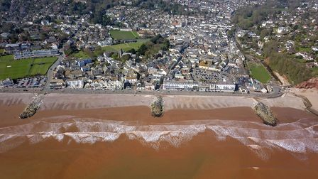 Sidmouth by drone. Picture: Danny Whittle