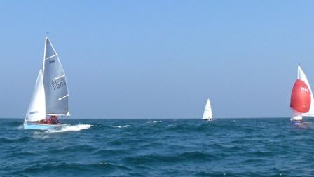 Action from late April dinghy racing out of Sidmouth Sailing Club. Picture JOHN JONES