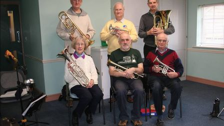 Paul Bridgman (centre front row) has been appointed honorary MD for the East Devon Daytime Band