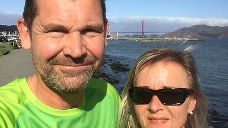 Sidmouth Running Club duo Steve and Louise Saunders on their visit to San Francisco where they donne