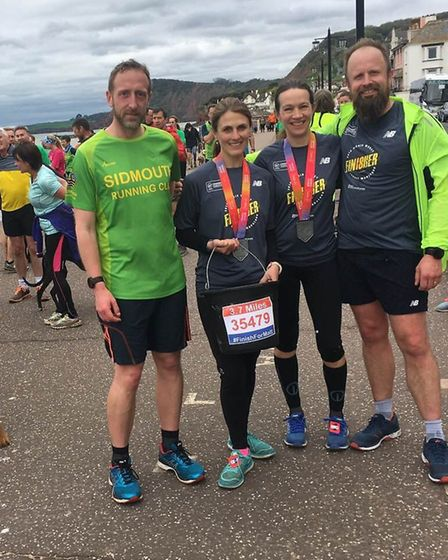 Sidmouth Running Club's organisers for the 3.7 mile Finish for Matt run.